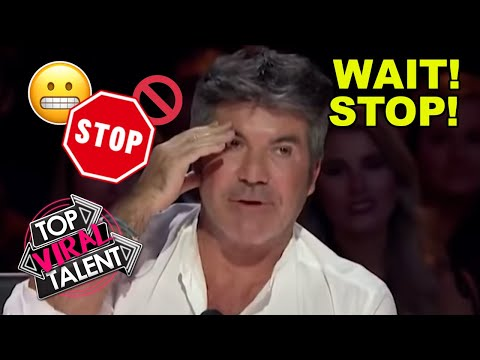 5 TIMES SIMON COWELL HAS STOPPED A GOT TALENT AUDITION! Watc