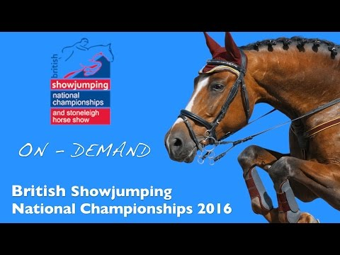 British Showjumping National Championships | 90cm Horse Warm Up