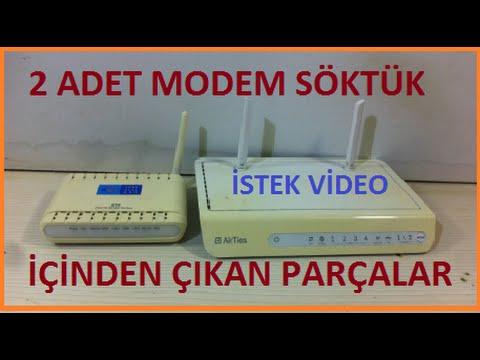 Modem İçinden Çıkan Elektronik Malzemeler-Modem Sökümü