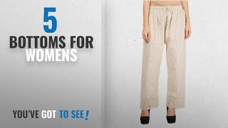 Top 10 Bottoms For Womens [2018]: Vastraa Fusion Women's Cotton Palazzo