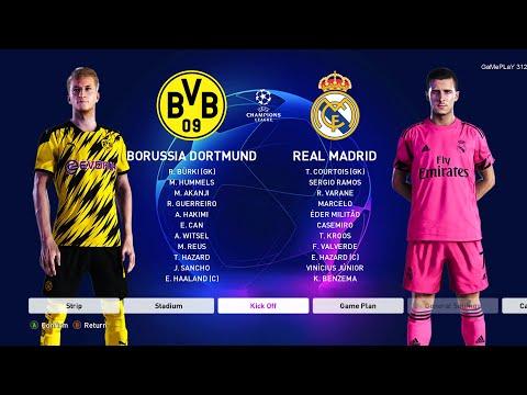 Pes 2020 Borussia Dortmund Vs Real Madrid Uefa Champions League Ucl New Kits 20 21 Season Youtube