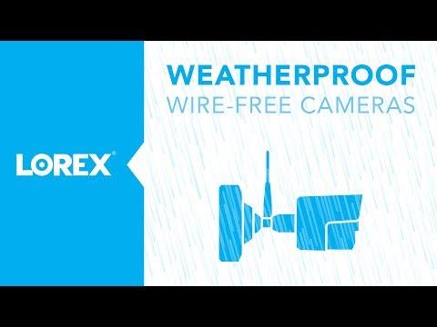 Weatherproof and Waterproof Wire Free Security Cameras
