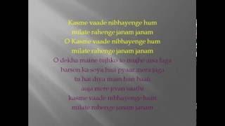 Kasme Vaade Nibhayenge Karaoke by Nikhil Patel