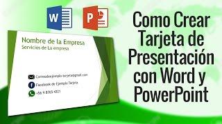 Como Hacer Tarjetas de Presentacion en 5 minutos con Power Point y Word 2013