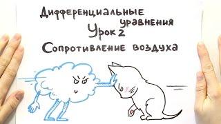 Дифференциальные уравнения 2. Сопротивление воздуха