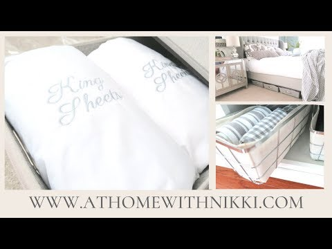 HOME ORGANIZING TIPS | How I Organize My Linens Throughout My Home