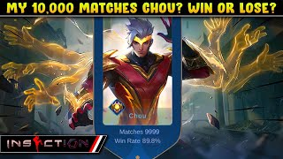 MY 10,000 MATCHES CHOU! MY TEAMMATES SHOCKED!