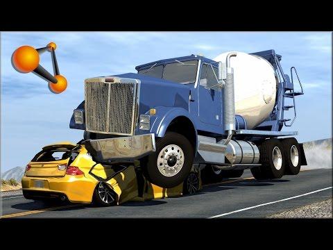 BeamNG.Drive Trucks Vs Cars #5
