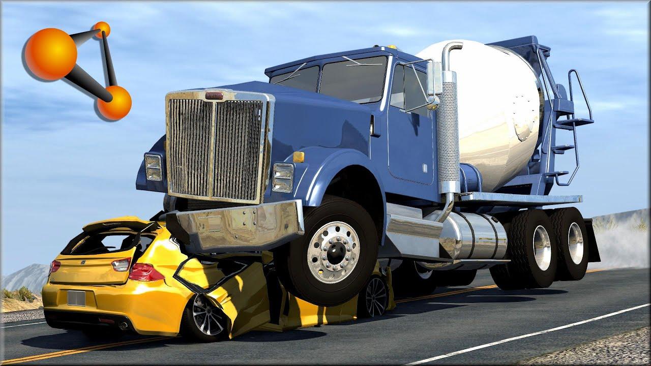 Police Car Wallpaper Mobile Beamng Drive Trucks Vs Cars 5 Youtube