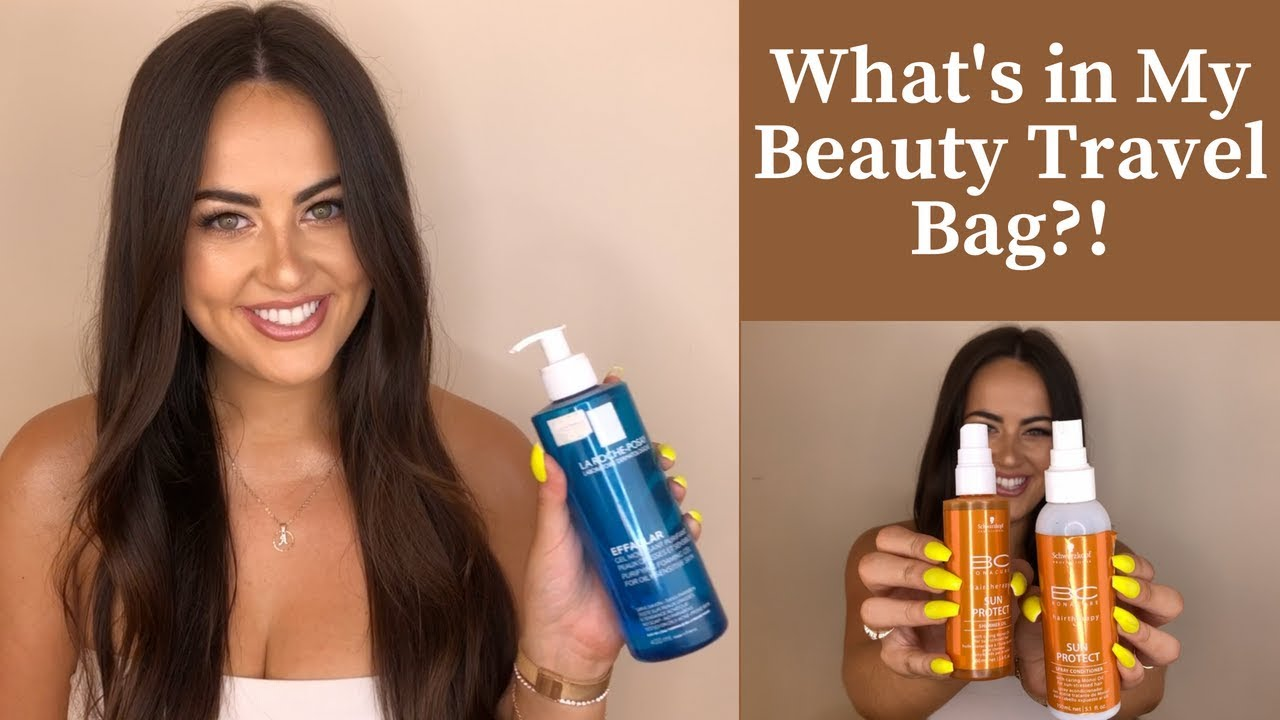 Whats In My Beauty Travel Bag Skin Care Hair Care