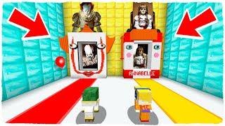 ¡NO ELIJAS LA DIMENSIÓN EQUIVOCADA! Pennywise (It) y Annabelle en Minecraft