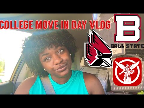 COLLEGE MOVE IN DAY VLOG - BALL STATE UNIVERSITY