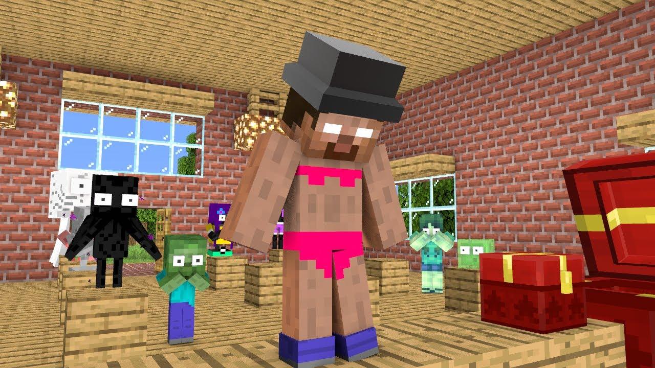 Monster School : Gift Prank - Funny Minecraft Animation