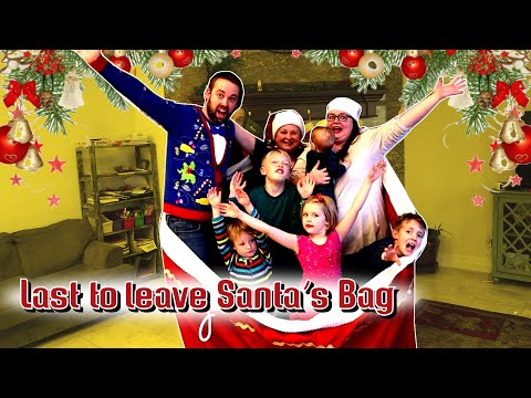 Last To Leave Santa Claus' Bag Wins Early Christmas Presents!