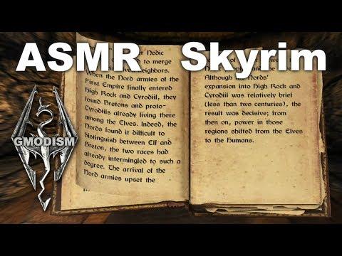 ASMR Gaming: Skyrim Whisper - Overnight & Reading at Silver-Blood Inn - Khajiit Life Ep.17