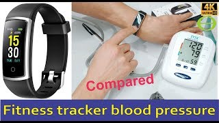 Fitfort (Amazon) fitness tracker blood pressure compared to clinical blood pressure machine.