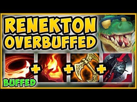 NEW RENEKTON BUFFS?? SRO VS HASHINSHIN BUFFED RENEKTON SEASON 9 TOP GAMEPLAY League of Legends