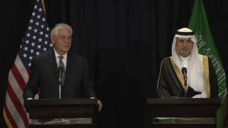 Tillerson and Saudi Foreign Minister hold briefing thumbnail