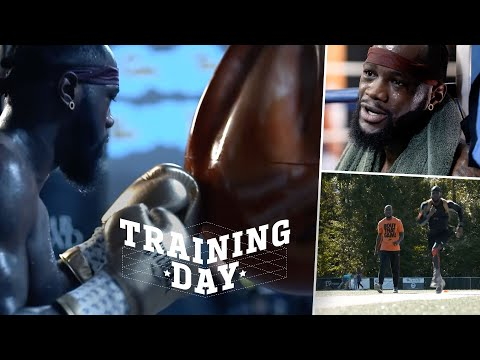 """Training Day: Deontay Wilder Adds Weight To KO Tyson Fury! """"I Broke My Hand Before The First Fight!"""""""