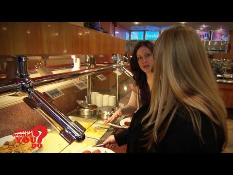 Rude buffet customer bullies overweight woman l First broadcast on 6/13/2014