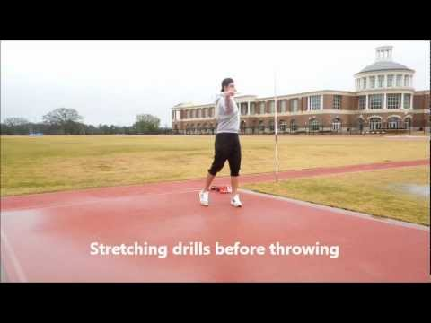 Javelin Warm-up Drills (flexibility) + Throws