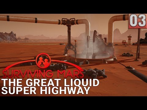 Let's Play Surviving Mars - Ep 03 - LONG-DISTANCE WATER - Gameplay (1440p)