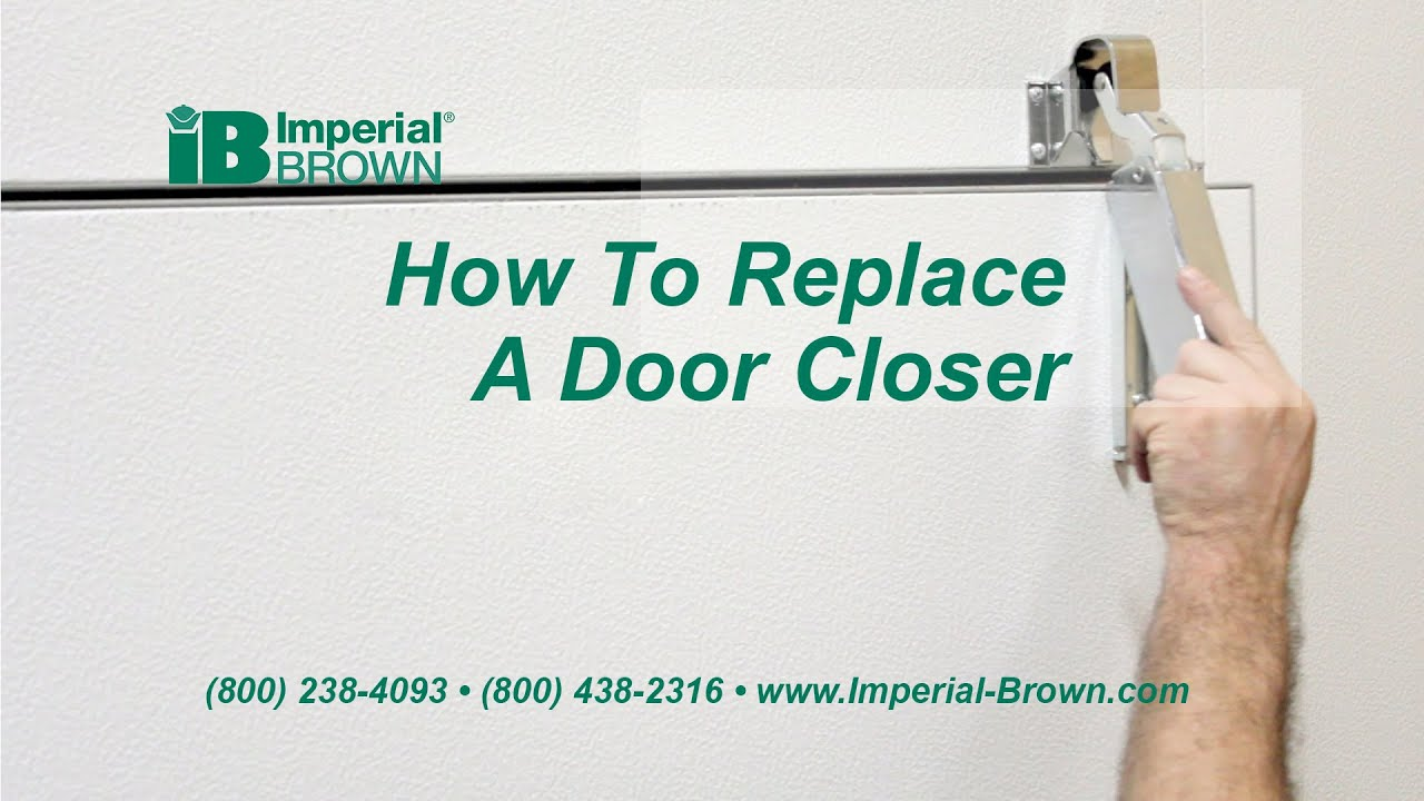 How To Replace A Swing Door Closer On A Walk In Cooler