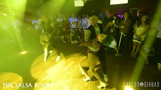 ZAFIRE DANCE COMPANY NY Salsa Dance Performance At THE SALSA ROOM