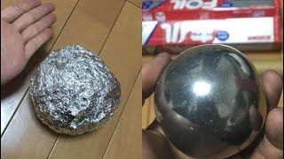 connectYoutube - Too Satisfying.. Japanese are Polishing Foil Balls to Perfection.