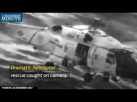 Dramatic helicopter rescue caught on camera
