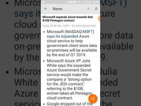 Microsoft aggressive for JEDI Pentagon contract