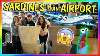 SARDINES IN AN AIRPORT | HIDE AND SEEK | We Are The Davises