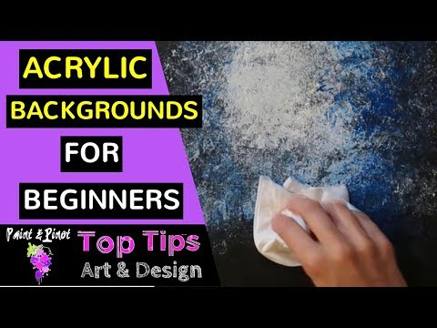 8 Top Tips To Creating Textured Acrylic Backgrounds - Acrylic Painting For Beginners