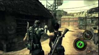 Re5 Chris use medical spray/green herb.