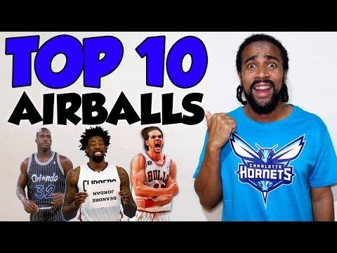TOP 10 PIORES AIR BALL'S DA NBA