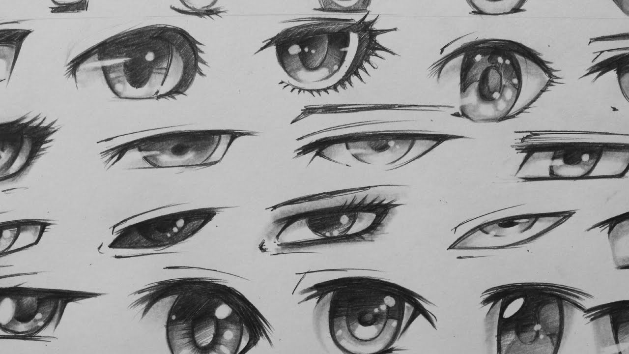 Manga Eyes Sketching 29 Different Forms Youtube