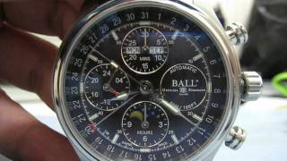 Ball Trainmaster Moonlight Special Ed. Triple Date Chronograph Function Testing Ref CM1036D