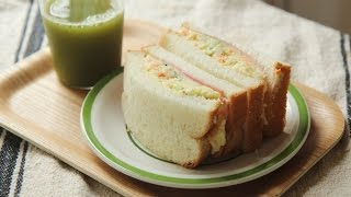 [4K] 감자 샐러드 샌드위치 : Potato Sala…