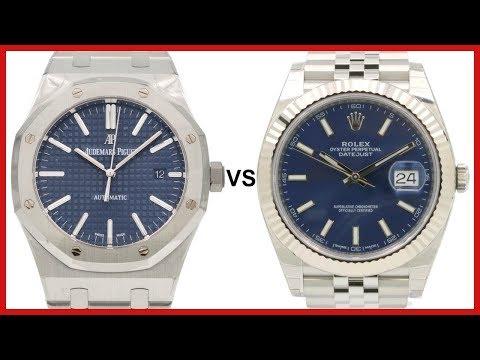 ▶ Audemars Piguet Royal Oak 15400ST VS Rolex Datejust 41 Blue Index, Steel Jubilee - COMPARISON