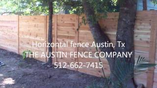 Horizontal Fence Austin Tx. 512-949-8943