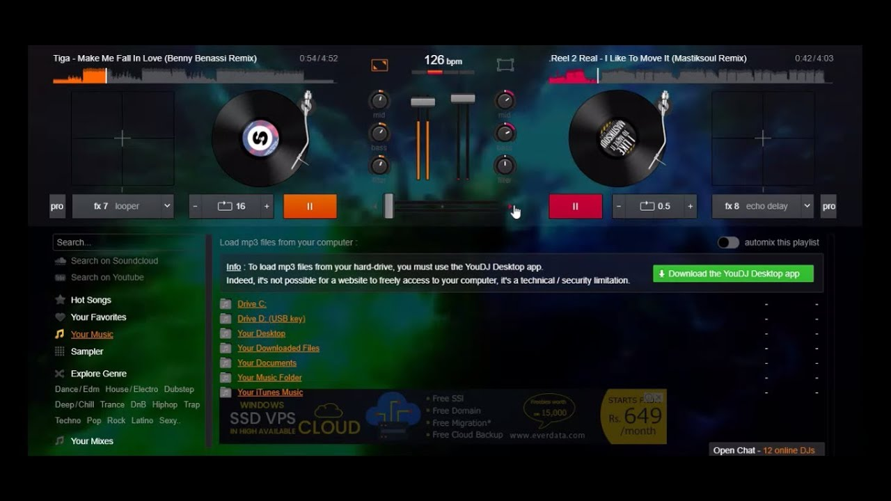 you dj mix music online