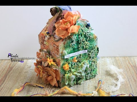 """Mixed Media House """"The House of Four Seasons"""" with Lindys Gang"""