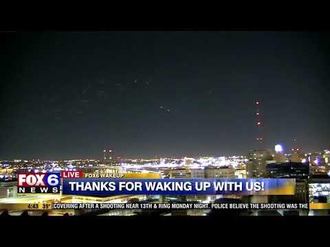 Mysterious lights over Milwaukee 2/27/18