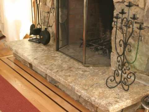 Fireplace hearths and surrounds - Granite and Marble - YouTube