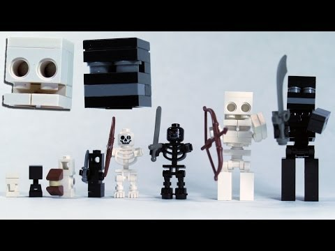 Build LEGO Minecraft Skeleton & Wither Skeleton