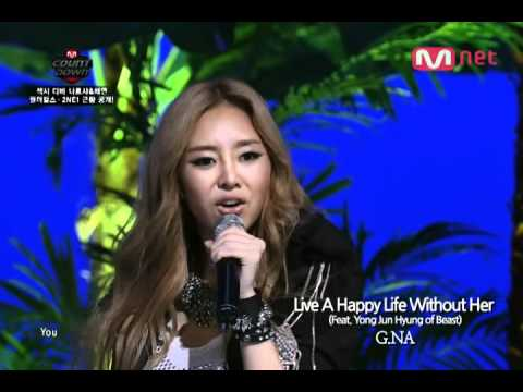 G.NA - Live A Happy Life Without Her (Feat. Yong Jun Hyung of Beast)