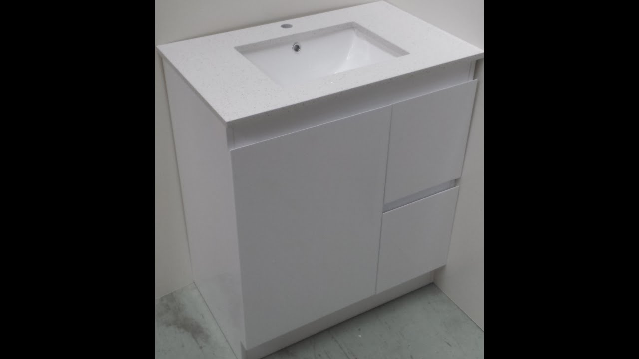 Buy Bathroom Caesarstone Vanity In Melbourne Glass White