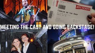 WE WENT ON THE STAGE! | WATCHING FIDDLER ON THE ROOF IN THE WEST END | Georgie Ashford