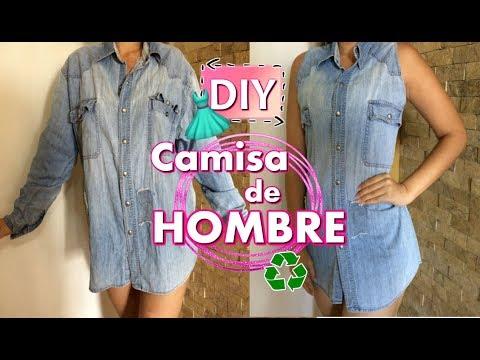 DIY - Como RECICLAR CAMISA DE HOMBRE / Como RECICLAR ROPA VIEJA