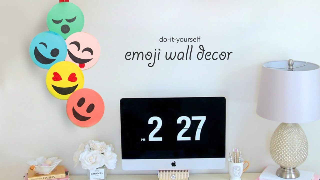 Diy Emoji Wall Decor Youtube